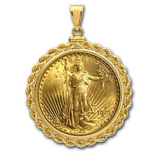 $20 St. Gaudens Gold Double Eagle Pendant (Rope-ScrewTop Bezel) - SKU #63488