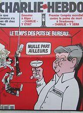 CHARLIE HEBDO No 470 JUIN 2001 CABU MESSIER LE TEMPS DES POTS DE BUREAU ...