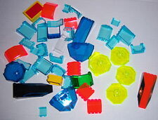 Lego Large Assortment of Windscreens, Canopies & Miscellaneous Bricks Used 6 oz.