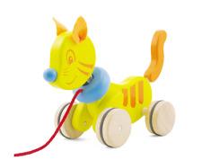 Nachziehtier Ziehtier Katze gelb 13500 Pintoy  neu - Holzziehtier