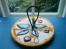 Vintage Majolica European pottery Cheese/Cake Stand