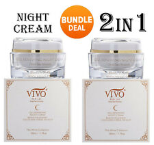 2x- VIVO PER LEI - Cell Renewing  Night Cream Dead Sea  50g 1.7 oz - Brand New!