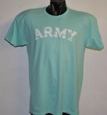 ARMY VINTAGE DESTROYED LETTERS MINT GREEN T-SHIRT- LARGE