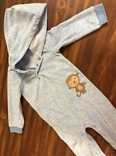 Carters Child Of Mine BaBy Boys Toddler Monkey Comfy Cozy Hoodie Blue Outfit 18M