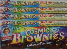 B 10 BOXES Little Debbie Cosmic Brownies with Chocolate Chip Candy 60 Count Lot