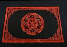 CELTIC KNOT TAPESTRY BED SHEET BED SPREAD WALLHANGING COTTON 82 x 54 RED