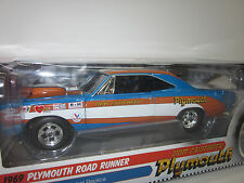ERTL/A.W.  AMERICAN MUSCLE 1:18 SCALE 1969 PLYMOUTH ROAD RUNNER DRAG RACE CAR!