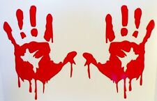 Red Bloody Zombie Hands Walking Dead Car Window Vinyl Decal Sticker **RED ONLY**