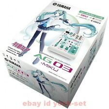 YAMAHA AG03-MIKU Webcasting mixer 3 channel Hatsune Miku From Japan
