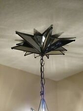 "Moravian  star large mirror canopy 12.75 ""  - 12 points"