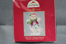 Cross Stitch Buttons and Beads Kit Mill Hill - Snowmen Dancing - Jim Shore