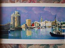 Marcel Mouly lithograph 'Les Tours de La Rochelle' 2002 Artist proof EA 20/30.