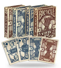 1 Deck Bicycle Civil War Confederate Red Poker Playing Cards  Brand New Deck