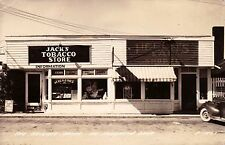 US MICHIGAN THE HEIGHTS ON HOUGHTON LAKE JACK'S TOBACCO STORE LL COOK CIRCA 1948