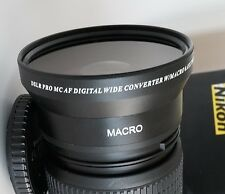 72mm WIDE ANGLE MACRO Lens For Nikon NIKKOR Zoom Lens 18-200mm 24-85mm 24-120mm