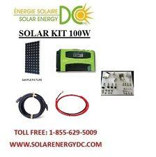 Solar Panel KIT Panneau Solaire 100 Watt Mono MPPT 30A charger cable MC4 Z brack