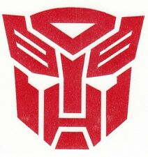 Highly reflective transformers Autobot Decal Sticker fire helmet window yeti