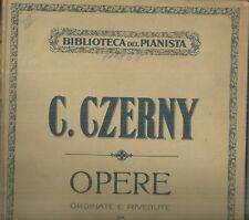 Studi per Pianoforte di Carlo Czerny Ordinati e Riveduti da Bruno Mugellini 1920