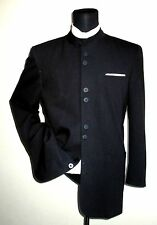 American Craftsmen Nehru collar black jacket sport coat ~ 42L