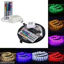 5M RGB SMD 5050 Flexible tira de luces LED 44Key IR Mando A Distancia Adaptador
