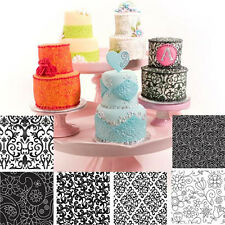 Cake Cookie Decorating Texture Impression Mat 6 pc Set - Floral Designs
