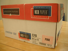 1 Box Carbonless NCR Appleton paper - 8.5x11(1 PART PINK ONLY)