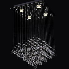 Elegant Clear Fixture Ceiling 4 Light Lighting Crystal Pendant Chandelier Lamp