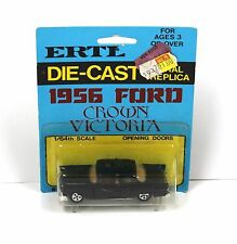 Ertl #1633 1:64 1955 Ford Crown Victoria Black MOC 70s Hong Kong