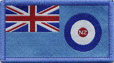 Royal New Zealand Airforce Flag RNZAF, Woven Badge Patch 8cm x 4.5cm