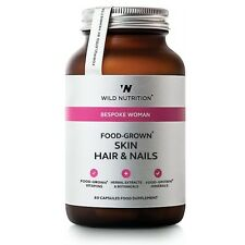 Wild Nutrition Food-Grown Skin Hair & Nails Vegicaps 60