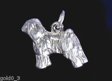 Tibetan Terrier Sterling Silver charmmakers Charm 3D