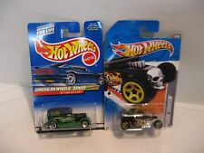 Hot Wheels '32 Ford Circus Delivery and Bone Shaker Lot of 2 HW#17