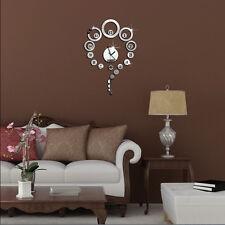 De lujo Adhesivo DIY Espejo Reloj pared Wall Hogar Decoraciones Bueno