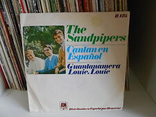 """THE SANDPIPERS """"Guantanamera / louie louie"""" 7"""" MADE IN SPAGNA  1966"""