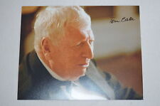 TOM BAKER signed Autogramm IP 20x25 cm DOCTOR WHO , AGATHA CHRISTIE´S MARPLE