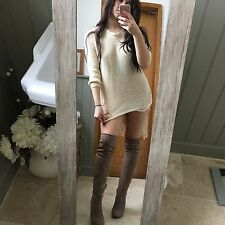 New Knee High Tan Suede Boots Size 6