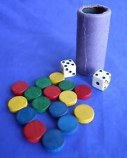 1989 Parcheesi A Royal Game Of India Replacement Tokens Dice & Shaker Part Piece