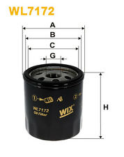 WIX WL7172 Car Oil Filter - Spin-On Replaces W71180 PH3614 OC988