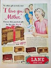 1950 Lane Cedar Chest Gifts Mothers Day Special Hope Furniture Original Ad