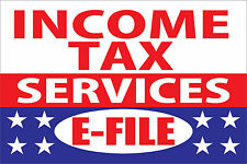 "Income Tax Services e-file Vinyl Business Advertising Banner Flag Sign 24"" X 36"""