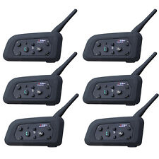 6pcs V6 1200m Motocycle Helmet Intercom Wireless Bluetooth Headsets for 6 riders