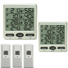 Funk Thermometer FT0073TWIN mit 3 Aussensensoren Luftfeuchte LCD Display
