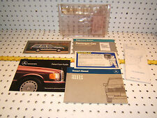 Mercedes 1988 190E 2.3/2.6 W201 owner's manual OEM 1 set of 6 Booklets& 1 Pouch