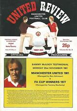 Manchester United v Notts County - Div 1 - 31/10/1981 - Football Programme