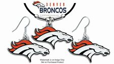 DENVER BRONCOS NECKLACE & EARRINGS SET - NFL LICENSED JEWELRY FREE SHIP #BL*