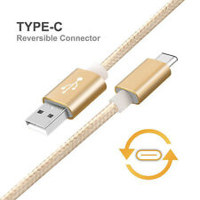 USB Type C Cable 1 Meter Nylon Braided Type-C to USB 2.0 Data & Charging Cable