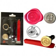 WAX SEALING KIT PENNY FARTHING Bike Letter Invitation Seal Stamp Gift Present