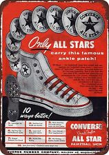 1949 Converse All Stars Reproduction Metal Sign 8 x 12 made in the USA