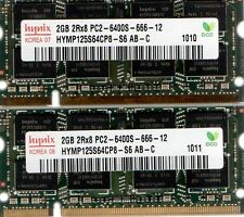 4GB (2x 2GB Kit) HP Pavilion G Series G50 G56 G60 G61 G70 G71 Notebook Memory