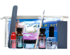 Mia Secret Professional Acrylic Nail System Clear Powder Kit Monomer Glue File